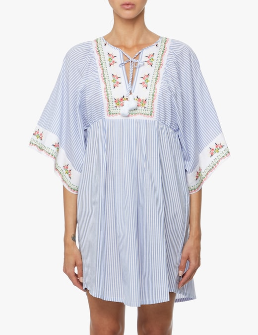 rinascente Tory Burch Embroidered beach tunic