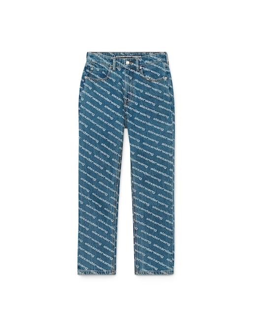 rinascente Alexander Wang Jeans straight a vita alta