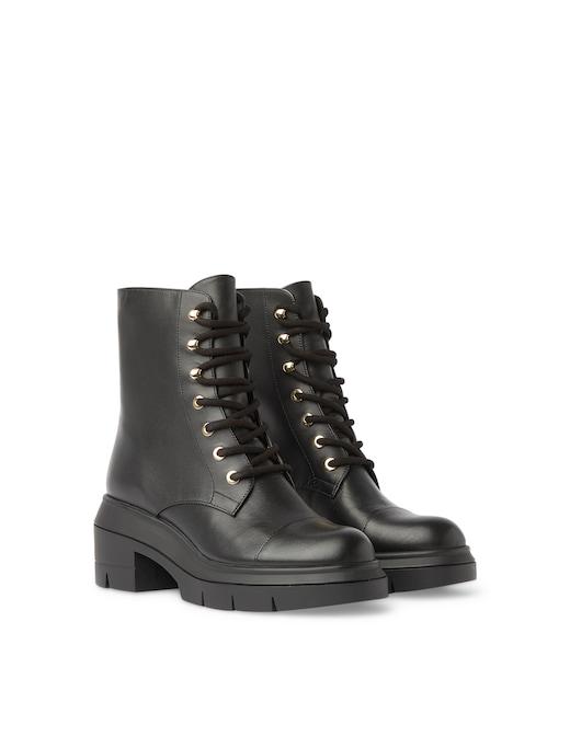 rinascente Stuart Weitzman Leather Nisha combat boots