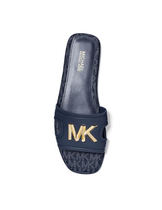 rinascente Michael Michael Kors Leather Kippy slides