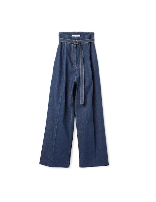 rinascente Philosophy di Lorenzo Serafini Jeans a palazzo vita alta con cintura