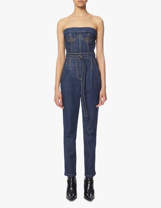 rinascente Philosophy di Lorenzo Serafini Tuta di jeans con cintura