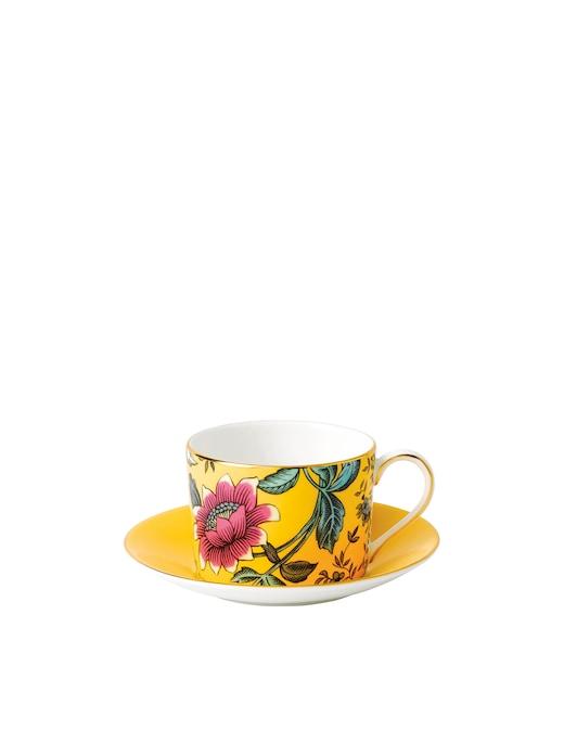 rinascente Wedgwood Wonderlust Yellow Tonquin Tazza 0,15L E Piattino Gift Box