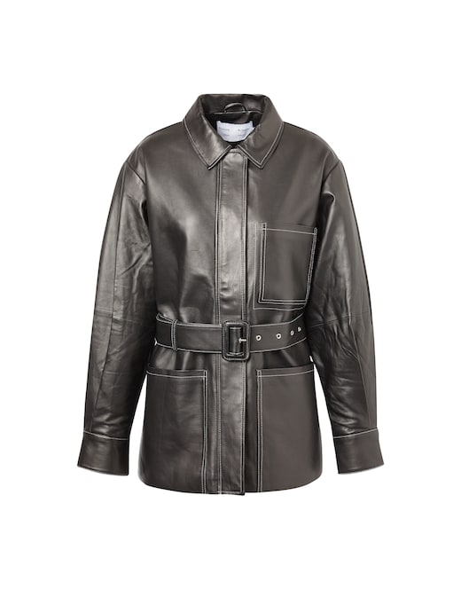 rinascente Proenza Schouler White Label Leather belted jacket