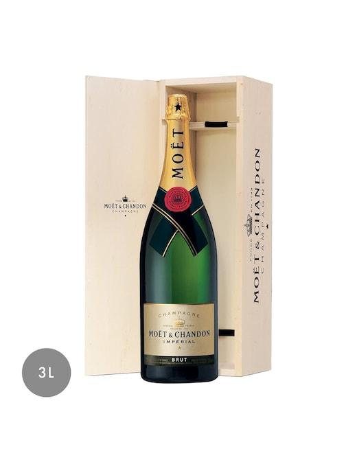 rinascente Moët & Chandon Champagne Impérial Jéroboam 3 Litri Caisse Bois