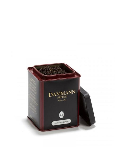 rinascente Dammann Frères Tè Smokey Lapsang nero aromatizzato in lattina da 100 gr.