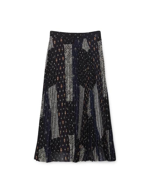 rinascente Sessùn Lyrics midi pleated skirt