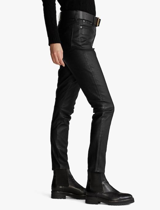 rinascente Polo Ralph Lauren Leggings in pelle con tasche