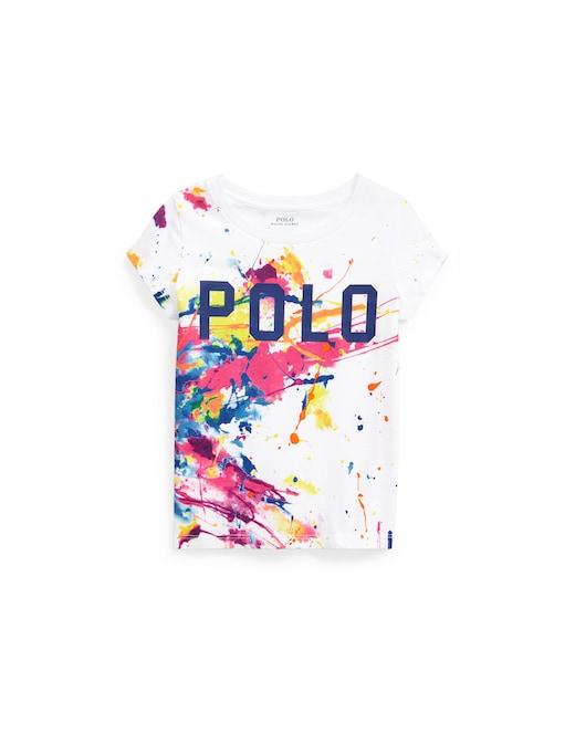 rinascente Polo Ralph Lauren Maglietta con spruzzi di colore in jersey