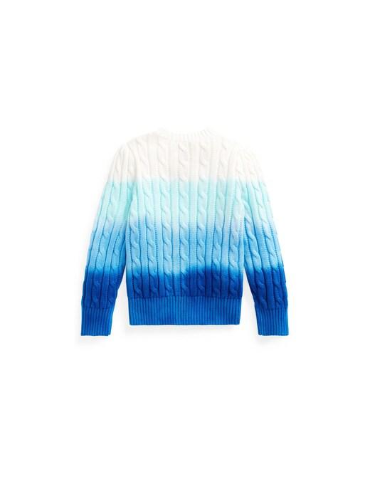 rinascente Polo Ralph Lauren Maglia in cotone a trecce dip-dye