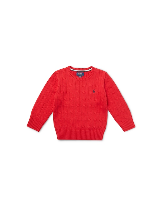 rinascente Polo Ralph Lauren Cable roundnneck sweatshirt