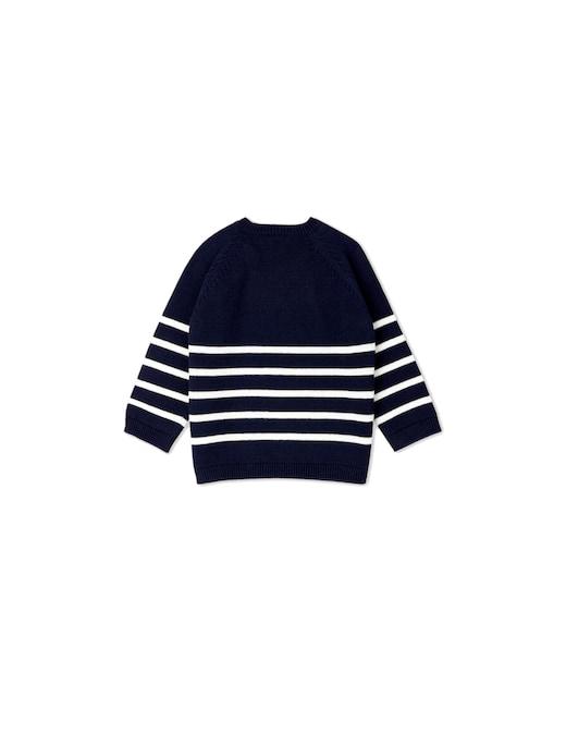 rinascente Petit Bateau Striped printed roundneck sweater