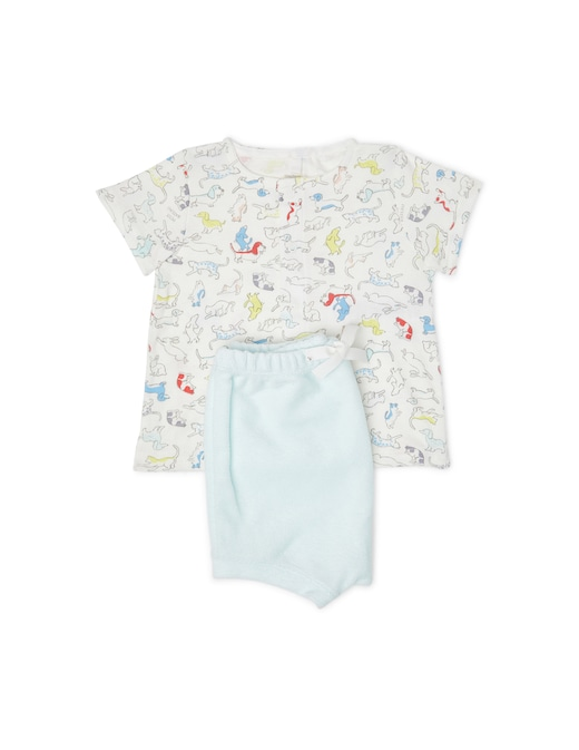 rinascente Petit Bateau Complete: t-shirt and short