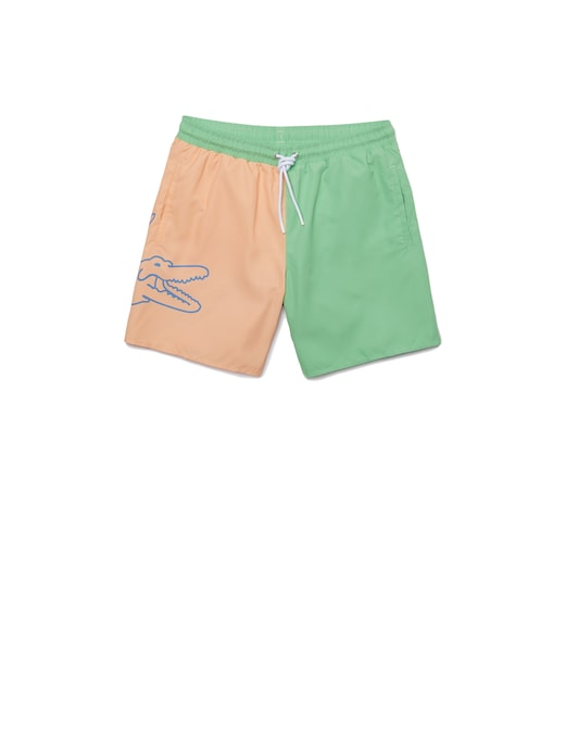 rinascente Lacoste Crocodile swim shorts