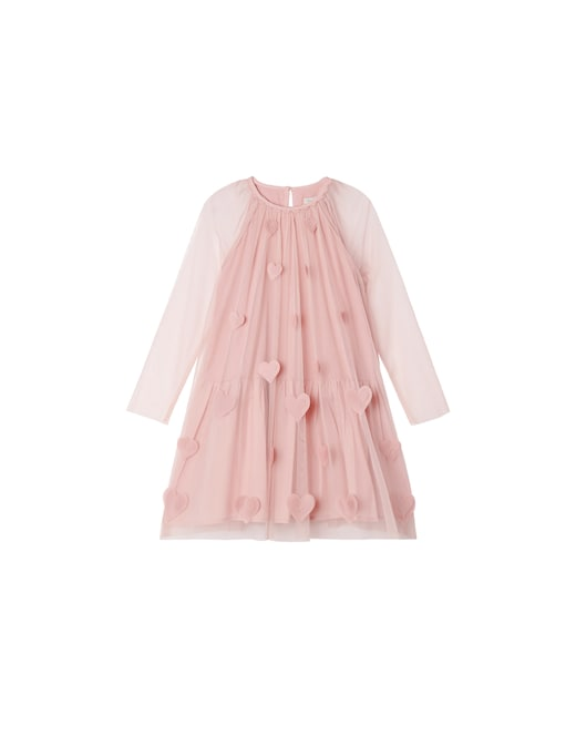 rinascente Stella McCartney Tulle dress with 3d hearts