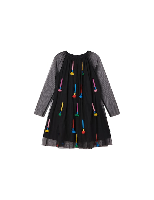 rinascente Stella McCartney Tulle dress with embroidered paintbrushes