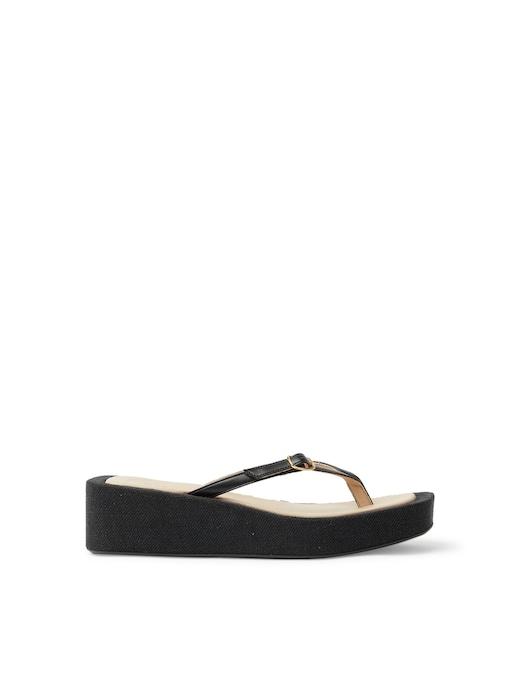 rinascente Jacquemus Tatanes platform leather flip-flops