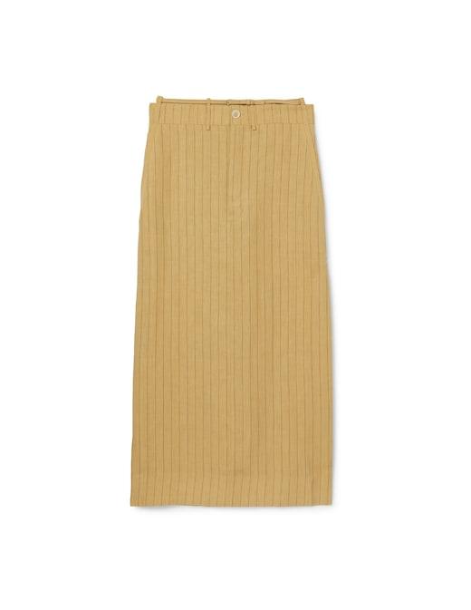 rinascente Jacquemus Terraio pinstripe long skirt