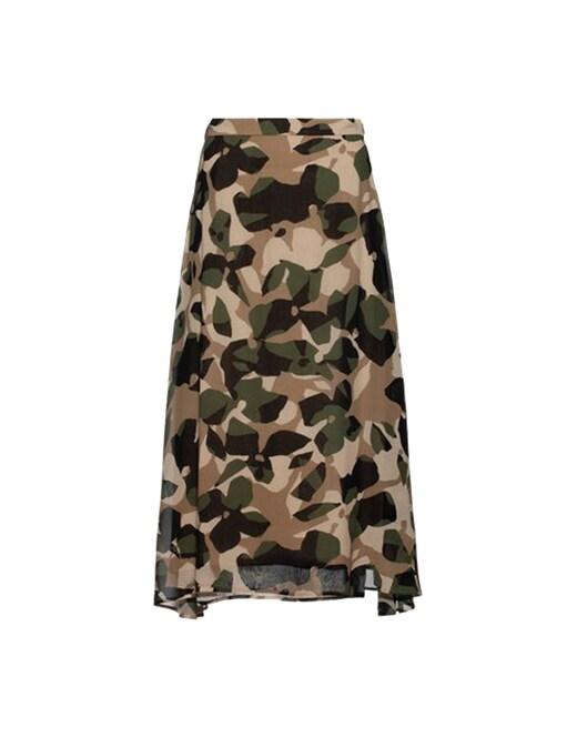 rinascente Boss Silk skirt with asymmetrical hem and graphic print