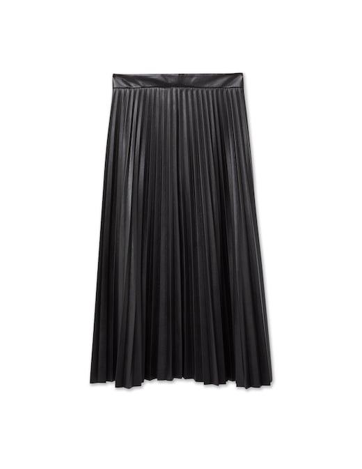rinascente Boss Pleated faux leather midi skirt Vaplita