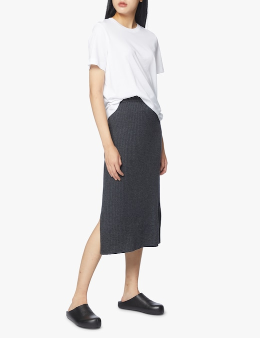 rinascente Boss Slim fit ribbed wool skirt
