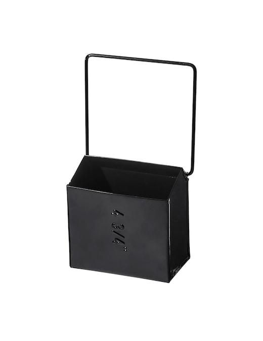 rinascente Puebco Hanging Tool Storage Box Wide Black