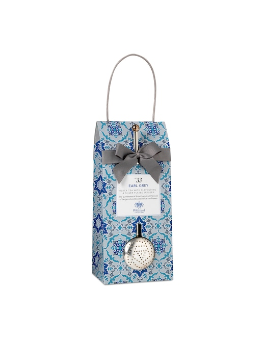 rinascente Whittard Black tea bergamot with silver plated infuser