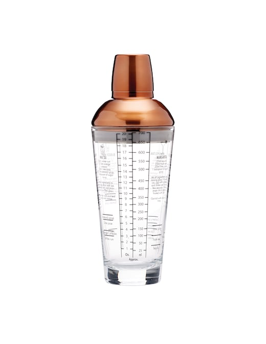 rinascente BarCraft Boston Cocktail Shaker 700 ml with 6 cocktail recipes