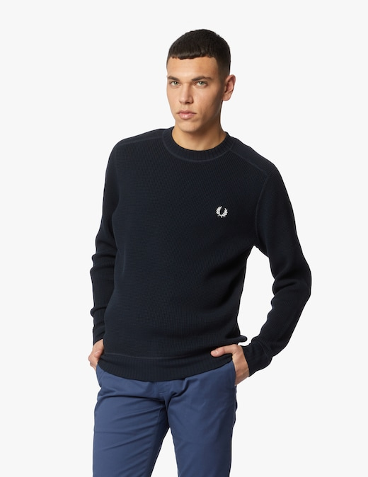 rinascente Fred Perry Waffle textured crew neck jumper