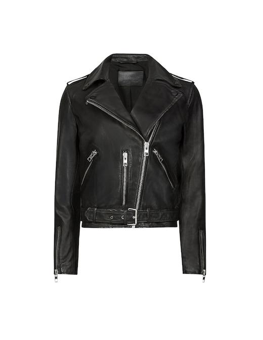 rinascente AllSaints Leather biker jacket Balfern