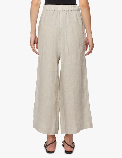 rinascente Sarah Pacini Pantaloni di lino a gamba larga