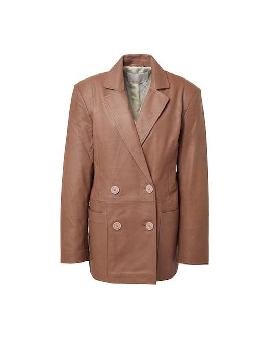 rinascente Remain Leather blazer Deborah
