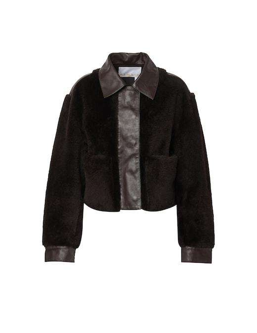 rinascente Remain Leather shearling jacket Amara