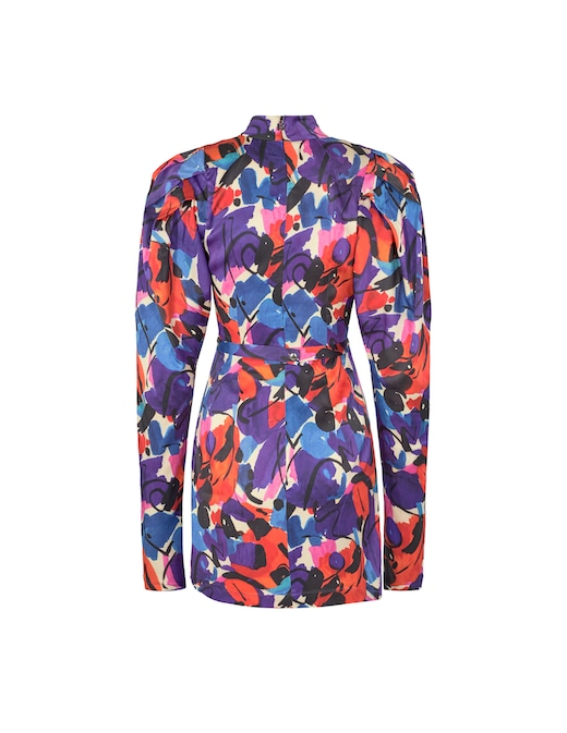 rinascente Rotate Ida floral puff sleeves mini dress