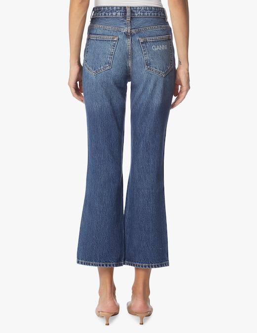 rinascente Ganni High rise cropped jeans