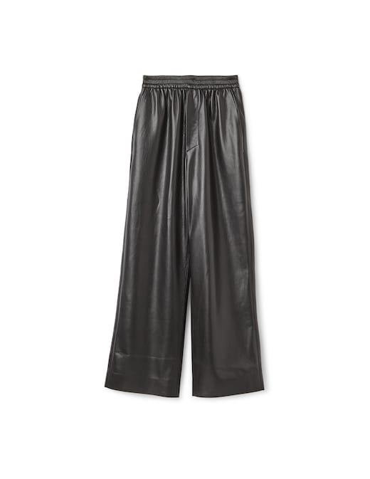 rinascente Nanushka Faux leather cropped elasticated trousers Odessa