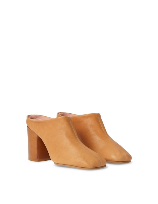 rinascente Acne Studios Leather heeled mules