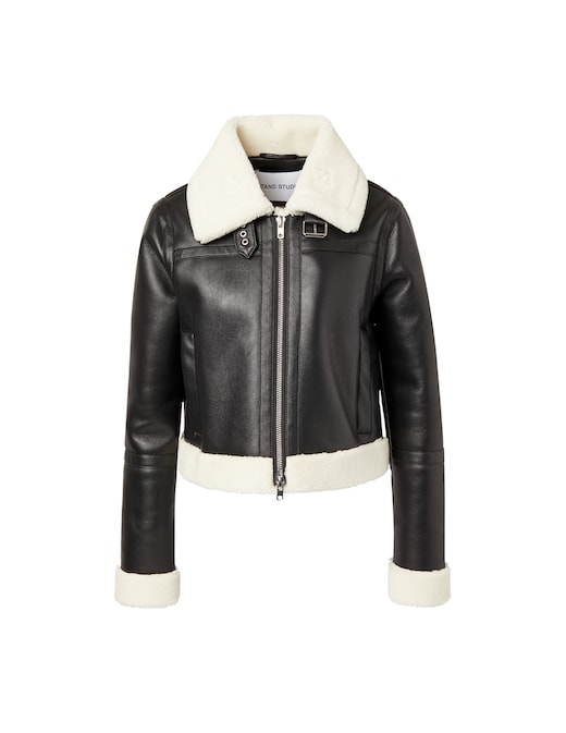rinascente Stand Studio Faux leather jacket Lorelle