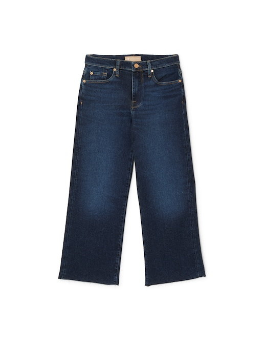 rinascente 7 For All Mankind High rise cropped wide leg jeans Alexa