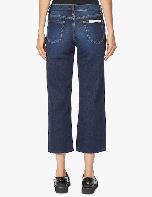 rinascente 7 For All Mankind Jeans crop a vita alta e gamba larga Alexa