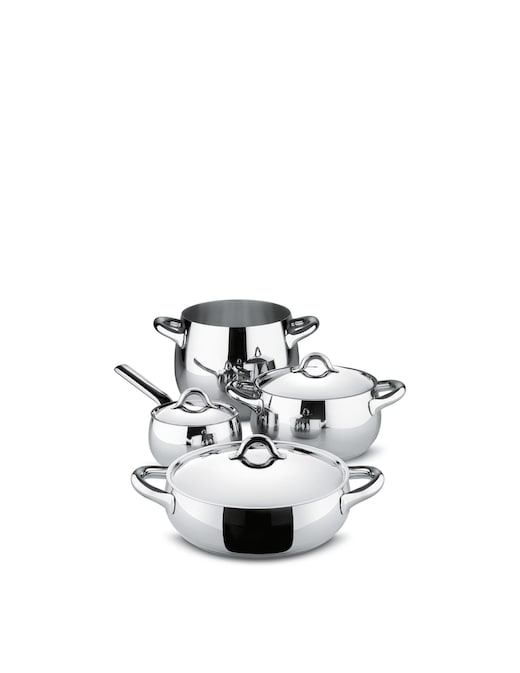 rinascente Alessi Mami Stefano Giovannoni pots&pans 7 pieces Induction
