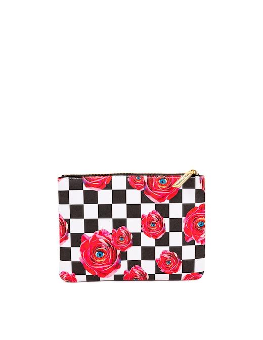 """rinascente Seletti Beauty-Case Stampato """"Toiletpaper"""" Roses On Check"""