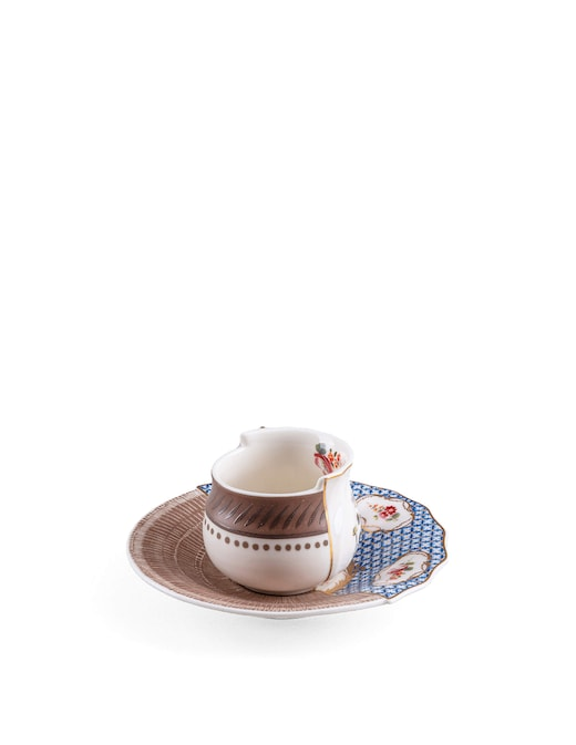"""rinascente Seletti Coffee Cup With Saucer """"Hybrid-Djenne"""""""