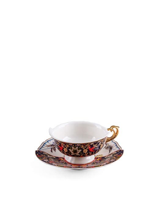 """rinascente Seletti Teacup With Saucer """"Hybrid-Kannauj"""""""