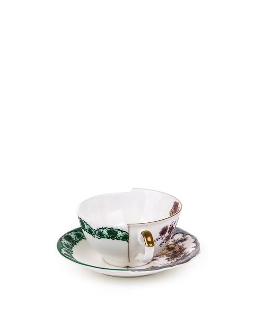 """rinascente Seletti """"Hybrid-Isidora"""" Teacup With Saucer In Porcelain"""