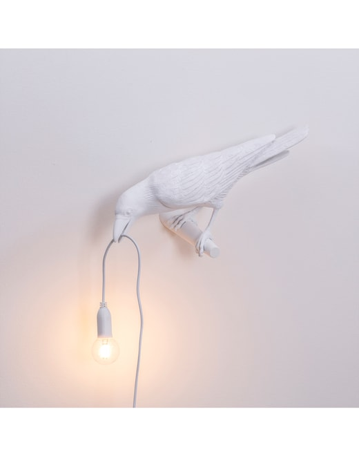 rinascente Seletti Bird Lampada Resin Lampada - Looking Left White