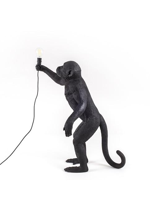 """rinascente Seletti Lampada In Resina """"Monkey Lamp-Outdoor-Black"""" In Piedi"""