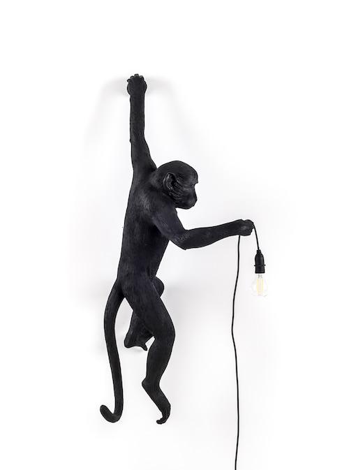 "rinascente Seletti Lampada Resina ""Monkey Lamp-Outdoor-Black"" Appesa Mano"