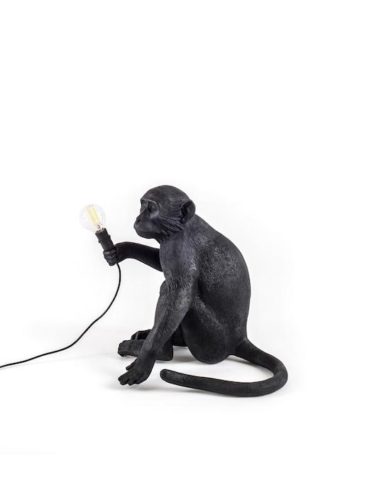 "rinascente Seletti Lampada In Resina ""Monkey Lamp-Outdoor-Black"" Seduta"