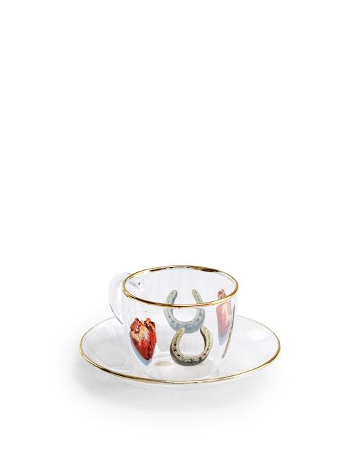rinascente Seletti Glass Coffee Set Toiletpaper  -I Love You